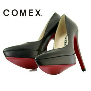 コメックス(COMEX)のCOMEX コメックス ハイヒール パンプス 23.5cm 黒(ハイヒール/パンプス)
