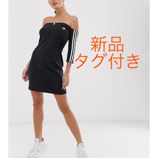 アディダス(adidas)のadidas オフショル ワンピース(ミニワンピース)