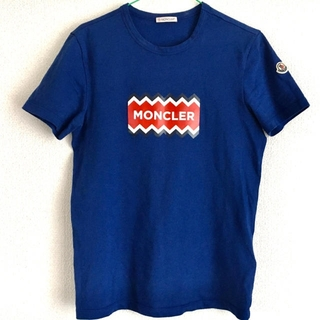 MONCLER - モンクレール Moncler Tシャツ ギザロゴ ブルー 青 2019SS