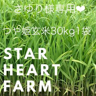 さゆり様専用 つや姫30Kg 1袋 玄米(米/穀物)
