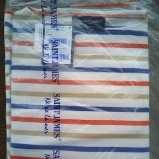 セントジェームス(SAINT JAMES)の新品 セントジェームス ウエッソン T5  バスクシャツ ボーダー柄 白ベース(Tシャツ/カットソー(七分/長袖))