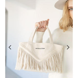 ALEXIA STAM - アリシアスタン V Long Fringe Small Tote Bag