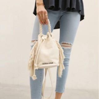 ALEXIA STAM Side Fringe Draw String Bag(その他)