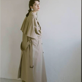STUDIOUS - CLANE クラネ    BACK FRILL TRENCH COAT