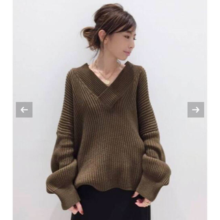 L'Appartement DEUXIEME CLASSE - アパルトモン♡TWINS FLORENCE VNECK KNIT