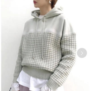 Ameri VINTAGE - アメリヴィンテージ NEEDLE PUNCH KNIT HOODIE