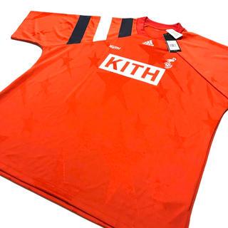 新品 KITH × adidas クラシックボックスロゴTシャツ レッド