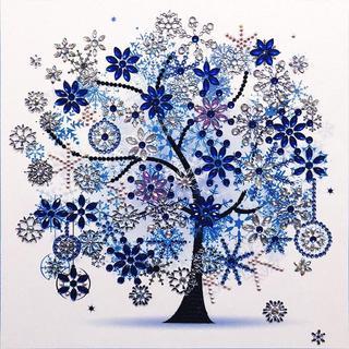 5Dダイヤモンド塗装キット 四季の木 【冬】