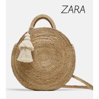 ザラ(ZARA)の【新品・未使用】ZARA ラフィア ラウンドバッグ(かごバッグ/ストローバッグ)