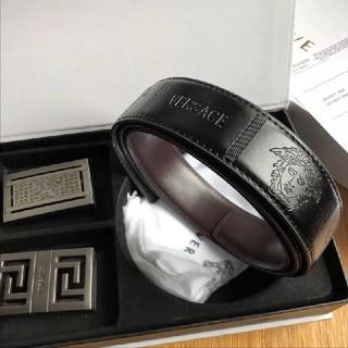 ヴェルサーチ(VERSACE)の人気!Versace ヴェルサーチ メンズ ベルト 黒 (ベルト)