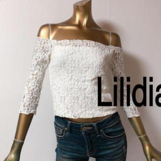 リリディア(Lilidia)の美品 オフショル  トップス(カットソー(半袖/袖なし))