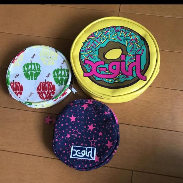 X-girl(エックスガール)のエックスガール ポーチ、コインケース レディースのファッション小物(ポーチ)の商品写真