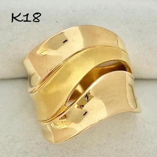 最高級 K18 イエローゴールド リング メンズ レディース ユニセックス 指輪(リング(指輪))