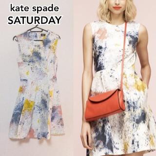 KATE SPADE SATURDAY - 【ケイト・スペード】ペイント柄 ワンピース