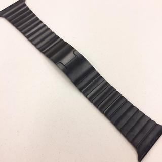 アップルウォッチ(Apple Watch)のApple Watch リンクブレスレット ブラック アップルウォッチ 42mm(その他)