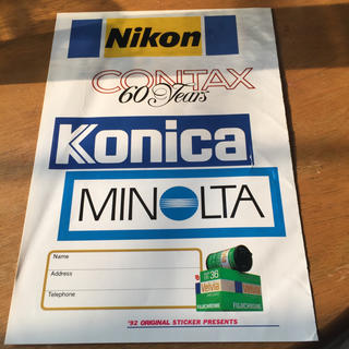 ニコン(Nikon)のカメラオリジナルステッカー(その他)