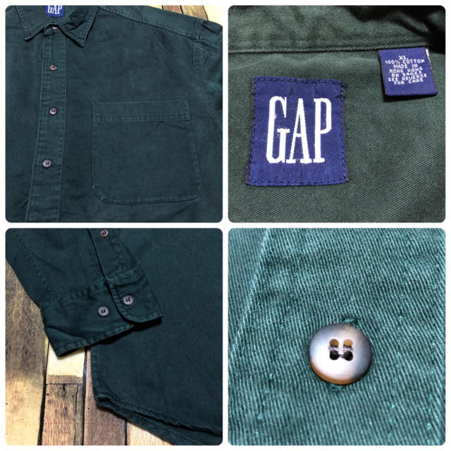 GAP(ギャップ)の【オールドギャップGAP】ポケット付き☆ワークチノシャツ 90s メンズのトップス(シャツ)の商品写真