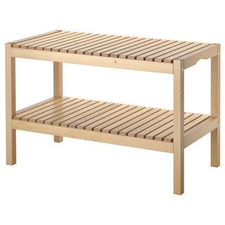 イケア(IKEA)のあ様専用【IKEA】MOLGERベンチ,バーチ、NESNA ネスナ(コーヒーテーブル/サイドテーブル)