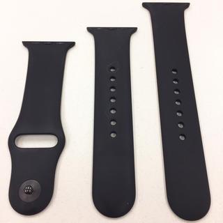アップルウォッチ(Apple Watch)のアップルウォッチ スポーツバンド 黒 Apple Watch 38/40mm 用(その他)