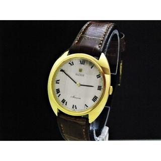 ウォルサム(Waltham)のWALTHAM Maxim 手巻き腕時計 立体ガラス HT001 ゴールド(腕時計(アナログ))