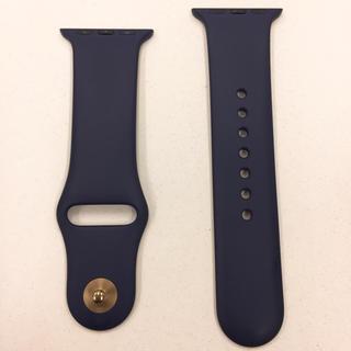 アップルウォッチ(Apple Watch)のアップルウォッチ ラバーベルト 紺 Apple Watch 38mm 40mm(その他)