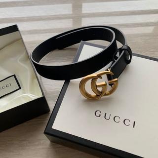 Gucci - 大人気!★GUCCI★ダブルGバックル♪レザー*ベルト(幅3cm)