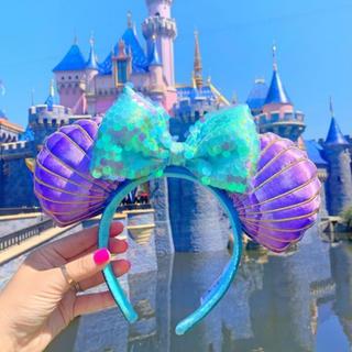 ディズニー(Disney)の海外ディズニー限定 リトルマーメイド30周年アリエル カチューシャ(カチューシャ)