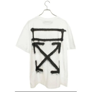 オフホワイト(OFF-WHITE)の定価41800円 OFF-WHITE スプレーペイント Tシャツ (Tシャツ/カットソー(半袖/袖なし))