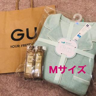 SABON - 【新品完売品】GU×SABON ミント パイルパジャマ(半袖)Mサイズ ✴︎1点