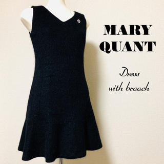 MARY QUANT - MARY QUANT マリークワント デイジーブローチ付ワンピース