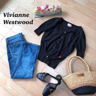 Vivienne Westwood - ヴィヴィアンウエストウッド ロゴ刺繍カーディガン