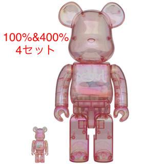 メディコムトイ(MEDICOM TOY)の4セット BE@RBRICK X-girl 2020 100% & 400%(模型/プラモデル)