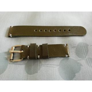 19mmレザー時計バンド ~モスグリーン~GR19B(レザーベルト)