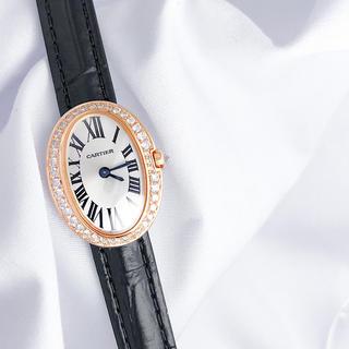 Cartier - 【仕上済】カルティエ ミニベニュワール K18 ダイヤ レディース 腕時計