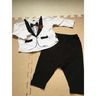 HAT MUSTACHE RIBBON タキシードベビースーツ(セレモニードレス/スーツ)