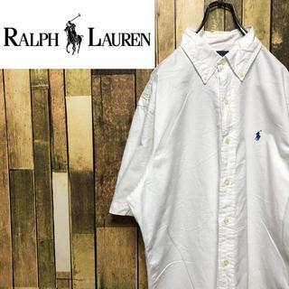 Ralph Lauren - 【ラルフローレン】ワンポイント刺繍ロゴ☆半袖ボタンダウンシャツ 90s