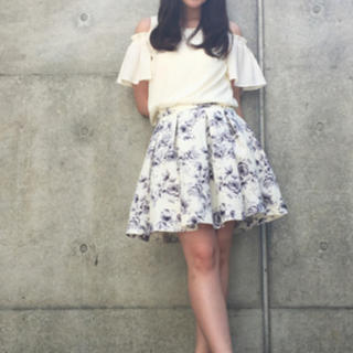 INGNI - イング フレア スカート 花柄