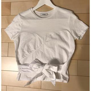 ZARA - ZARA ウエストリボン Tシャツ
