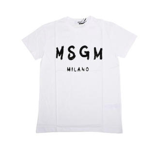エムエスジイエム(MSGM)のmsgm Tシャツ 女性 キッズ ホワイト(Tシャツ(半袖/袖なし))