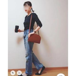 ジーユー(GU)のジーユー カットソー ブラック(Tシャツ(長袖/七分))