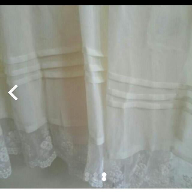 可愛い 白のワンピース レディースのワンピース(ひざ丈ワンピース)の商品写真