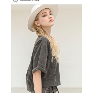 ALEXIA STAM - Short Sleeve Sweatshirt Charcoal 完売 アリシア