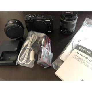キヤノン(Canon)のCanon EOS M3 ブラック 標準レンズ・EFマウントアダプターセット(ミラーレス一眼)