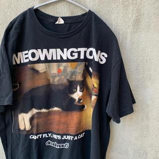 meowingtons ねこ ネコ 猫 deadmau5 tシャツ 古着 フォト