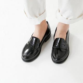 ハンター(HUNTER)のHUNTER♡ペニーローファー 黒 22cm(レインブーツ/長靴)