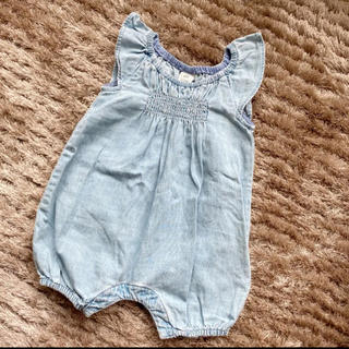 babyGAP - baby ロンパース 70 60 デニム フリル 夏 女の子