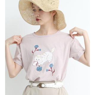 アトリエドゥサボン(l'atelier du savon)のdidizizi オールドコットン ねこばなTシャツ(Tシャツ(半袖/袖なし))