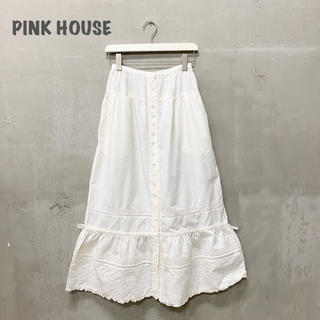 PINK HOUSE - 【PINK HOUSE】刺繍ロングスカート ピンクハウス