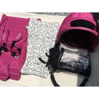 エアバギー(AIRBUGGY)のエアバギー  ココ 着せ替え5点セット ピンク(ベビーカー/バギー)