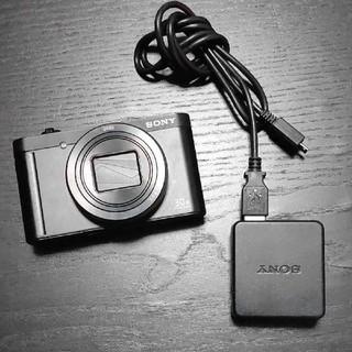 ソニー(SONY)のSONY DSC-WX500 サイバーショット ブラック 動作確認済 デジカメ(コンパクトデジタルカメラ)